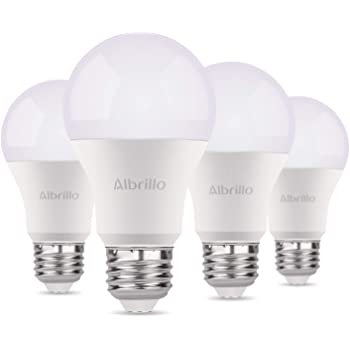 Albrillo Bombillas LED A60, Casquillo E27, 9W equivalente a 60W, 3000K Color blanco