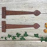 Antikas - Torband rustikal Schmiedeeisen, 2 Antik Scharniere Truhen Langbänder geschmiedet