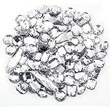 100pcs Piedras de acrilicas para decorar ropa tacones Zapato Bolso Vestido de Novia (Blanco)