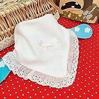 VANKER Newborn Infants Baby Girls Cotton Lace Bow Knot Dribble Bib White Handmade