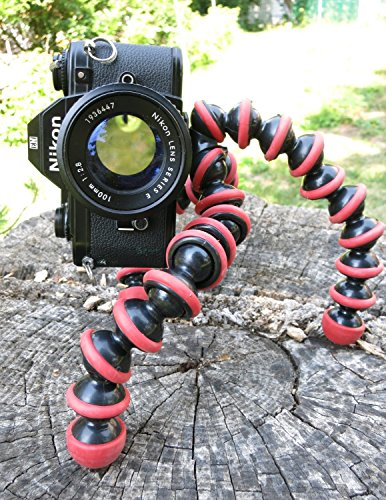 TRYOKART 10 Inch Flexible Gorillapod Tripod With Mobile Attachment For Dslr, Action Cameras, Digital Cameras & Smartphones Tripod(Red) 4