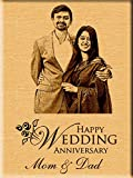 #5: Incredible Gifts India Personalized Wedding Anniversary Gift - Engraved Photo Plaque (7 inches x 5 inches)