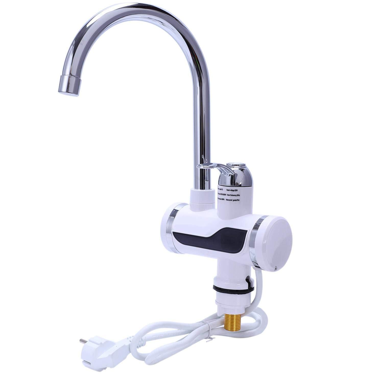 SODIAL EU Plug Cocina Electrica Calentador De Agua Grifo Calentador De Agua Instantaneo del Grifo Calentador De Agua…