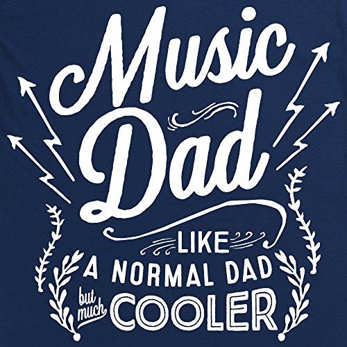Music Dad Langarmshirt Funny Novelty Gift, Herren Dunkelblau