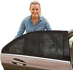 [2 Stück] Sonnenschutz Auto Baby, YIYAYO Auto-Hinterseitenfenster Sonnenblenden für Baby, Ihre Baby und ältere Kinder werdenvorSonnengeschützt, geeignet für Autos, flexibel dehnbaresNetz
