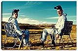 Breaking Bad Motiv auf Leinwand im Format: 120x80 cm. Hochwertiger Kunstdruck als Wandbild. Billiger als ein Ölbild! ACHTUNG KEIN Poster oder Plakat!