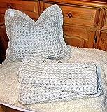 Kissenhülle/gehäkelt Kissen/Häkelkissenhülle/Kissenbezug/Zierkissenbezug/selbstgehäkelt aus Textilgarn/crocheted pillow/Cushion cover/even crocheted/3 Stück