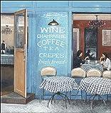 Keilrahmen-Bild - Norman Wyatt Jr.: Cafe Impressions 5 50 x 50 cm Leinwandbild Wein Cafe Laden Bistro Landhaus Country