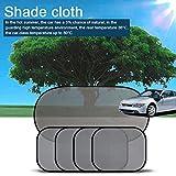 KKmoon 5pcs Set Parasole per auto per 4 lati 1 parasole posteriore nocivo UV / protezione solare per Baby Car Window with12 tazze di aspirazione extra