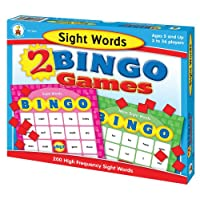 Sight-Words-2-Bingo-Games-With-2-Sided-Game-Cards-Calling-Cards-and-Tokens-and-Answer-Mat