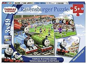 Ravensburger Italy-Thomas and Friends Reloj Soccer Puzzle, 3x 49Piezas, 08037