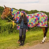Horse Pony Show Travel Stable Cooler Riding Printed Breathable Fleece Sheet All Sizes And Colours