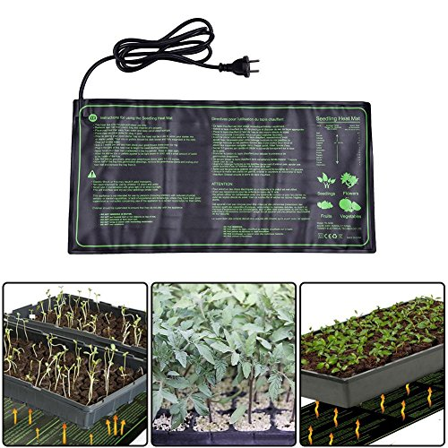 Lembeauty Seedling Heat Mat, Durable Waterproof Hydroponic Seedling Plant Mat Warm Hydroponic Heating Pad for Indoor Outdoor Gardening, 10