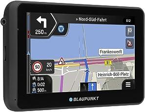 Blaupunkt TravelPilot 55 ACTIVE CONNECT EU LMU - Navigationssystem mit Aktiv-Halter, kapazitives Echtglas Touch-Farbdisplay 12,7 cm (5 Zoll), Gesamteuropa, lebenslange Karten-Updates*, TMC Stauumfahrung, Online Verkehrsmeldungen und Bluetooth-Freisprechneinrichtung