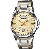 Casio Analog Stainless Steel Band Watch for Men MTP-1381G-9AV