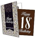 Happy 18th Birthday - Chocolate Greeting Card