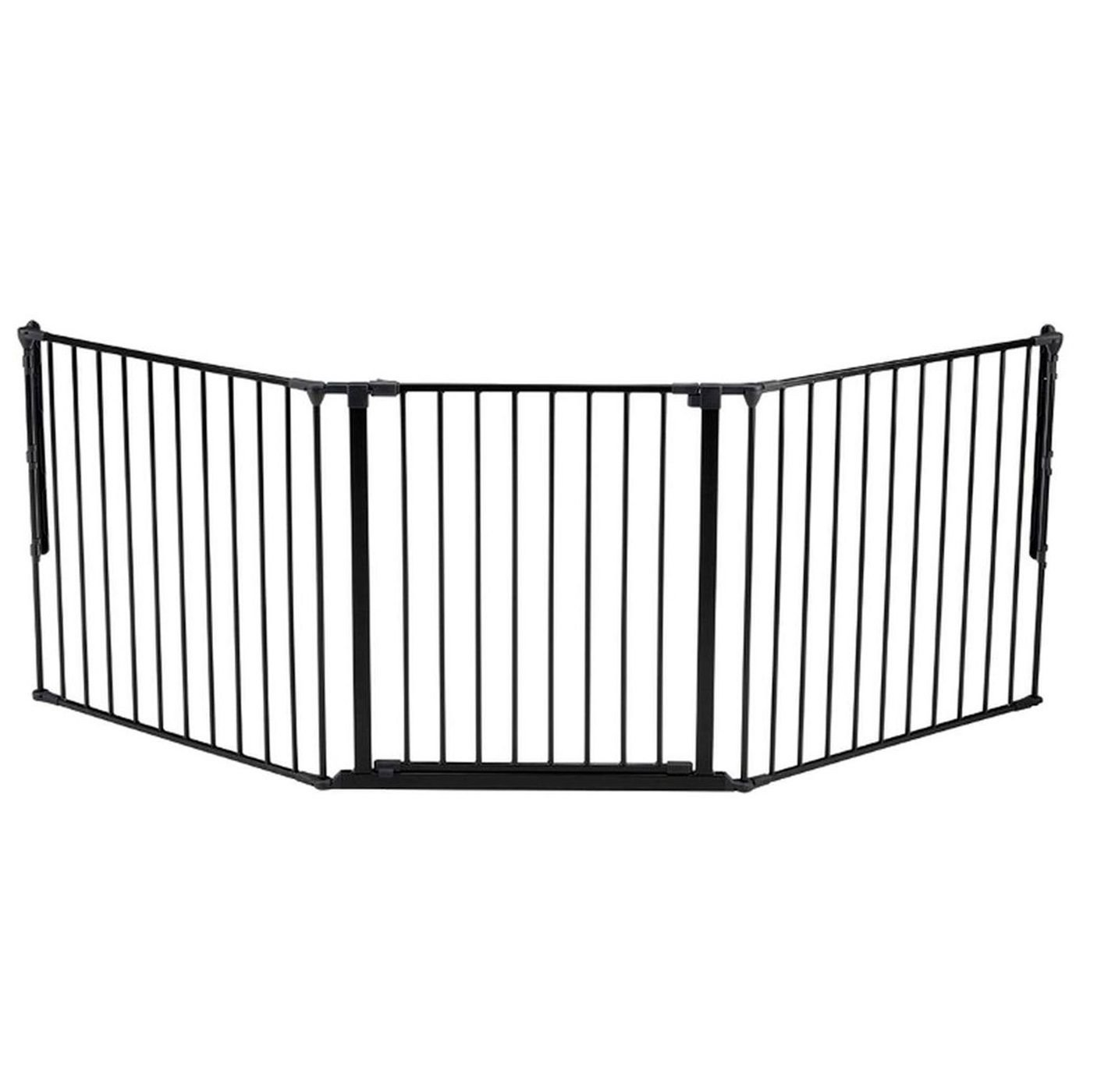 Baby Dan Flex Protection Barrier L Black  Consists of flexible panel units that can be used in many ways Perfect for keeping your child away from staircases or wide door openings Easy to mount and you can extend your gate with further section 1