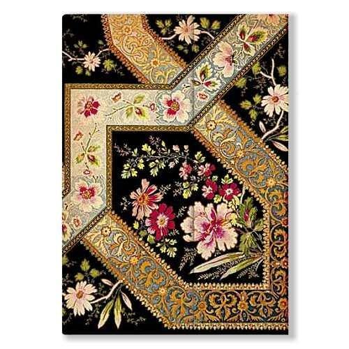 Blumenpracht - Bukett auf Ebenholz - Adressbuch Midi - Liniert - Paperblanks