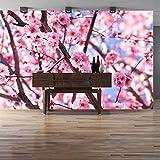 azutura Rosa Blumenbaum Wandbild Kirschblüte Foto-Tapete Schlafzimmer Haus Dekor Erhältlich in 8 Größen Riesig Digital