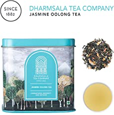 Dharmsala Jasmine Oolong Tea, Chinese Style Oolong Tea, Himalayan Whole Leaf Oolong Loose Tea with Jasmine, 25g, Freshly Packed at Our Plantations in Dharmsala
