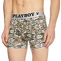 Playboy Men's Printed Boxers (PBU62-1P-L-PRINT 5)