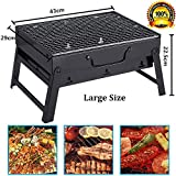 Iktu Barbecue Charcoal Grill Folding Portable Lightweight BBQ Tools for Outdoor Cooking Camping