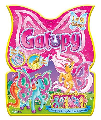 Craze Pferdchen 1 von 18 Sammelpferde GALUPY Sammelpferdchen Plüsch-Pony mit Flügeln und Glitzersteinen Pferde zum Sammeln 52021, bunt gemischt