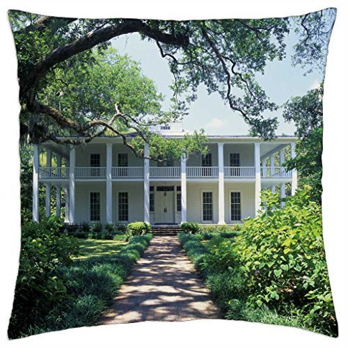 Doormat bag ca asheville wesley mansion look alike located woodland wesley mansion florida eden state g - Throw Pillow Cover Case (18