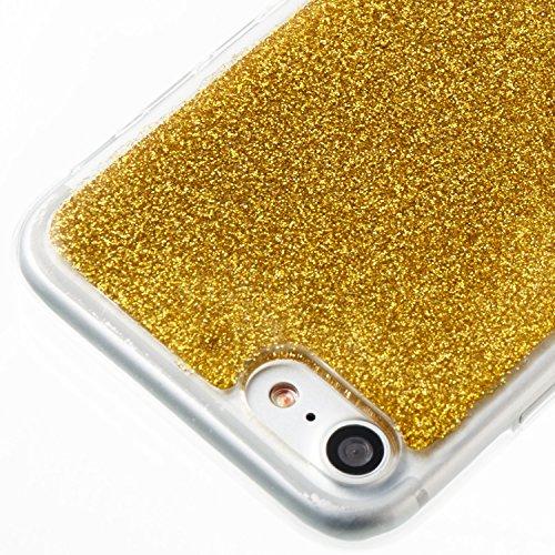iPhone 6 Plus Hülle, iPhone 6S Plus Hülle, Valenth Bling Sparkly Powder Soft TPU Silikon Stoßstange für iPhone 6 Plus / 6s Plus Yellow 7G