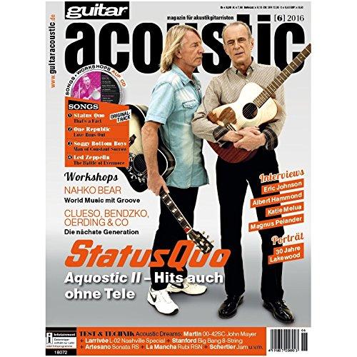 guitar acoustic 6 2016 mit CD - Leonard Cohen - Interviews - Akustikgitarre Workshops - Akustikgitarre Playalongs - Akustikgitarre Test und Technik - Akustikgitarre Noten