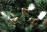 3 tlg. Glas-Vögel Set in 'Goldener Traum Spezial' - Christbaumkugeln - Weihnachtsschmuck-Christbaumschmuck