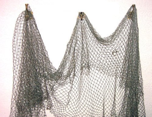 Fish Net - Nautical Fishing Decor - Decorative Netting - LARGE MESH by Tikizone (Decorative Fish Netting)