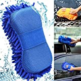 ORPIO (Lable) 2 in 1 Microfiber Car Washing Gloves Car Cleaning Sponge Car Window Cleaning Brush (1PCS)