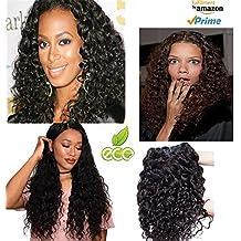 5587c69ec6fe Morningsilkwig 1 Bundle Grade 6A Tissage Naturels Boucles Crepus Bresilien  Cheveux 10 Pouces Vierges Water Wave