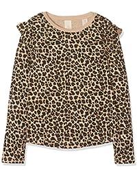 Scotch & Soda Long Sleeve tee with Ruffles and All-Over Print Camisa Manga Larga para Niñas