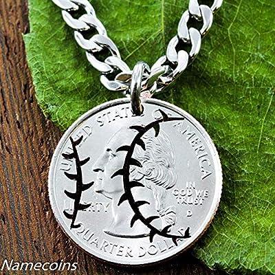 Baseball ou balle molle Collier Quarter Cut main ou d'une pièce, Sport cadeau
