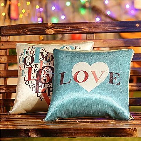 Habe cuscino Stampa fresco in estate Versatile auto cuscino pausa pranzo cuscino Quilt , Amore , 50 150x195cm ice