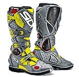 Sidi Crossfire 2 Stivali da Moto, Giallo Fluo/Grigio, 44