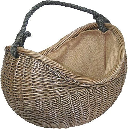 Red Hamper Antique Wash Cuerda Mango Mimbre Cesta de Transporte