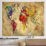 Qmber Tagesdecke Tagesdecke indisch orientalisch Psychedelic Indisch Wandteppich Mandala Elefant Boho Wandtuch Hippie Weltkarte-Wandteppich,J