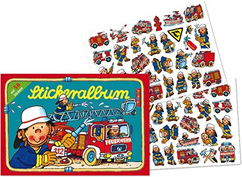 er 58 Sticker * FEUERWEHR * von LUTZ MAUDER // 72009 // Feuerwehrmann Fireman Feuerwehrauto Sam Geschenk Tattoo Kindersticker Aufkleber Stickerbuch ()