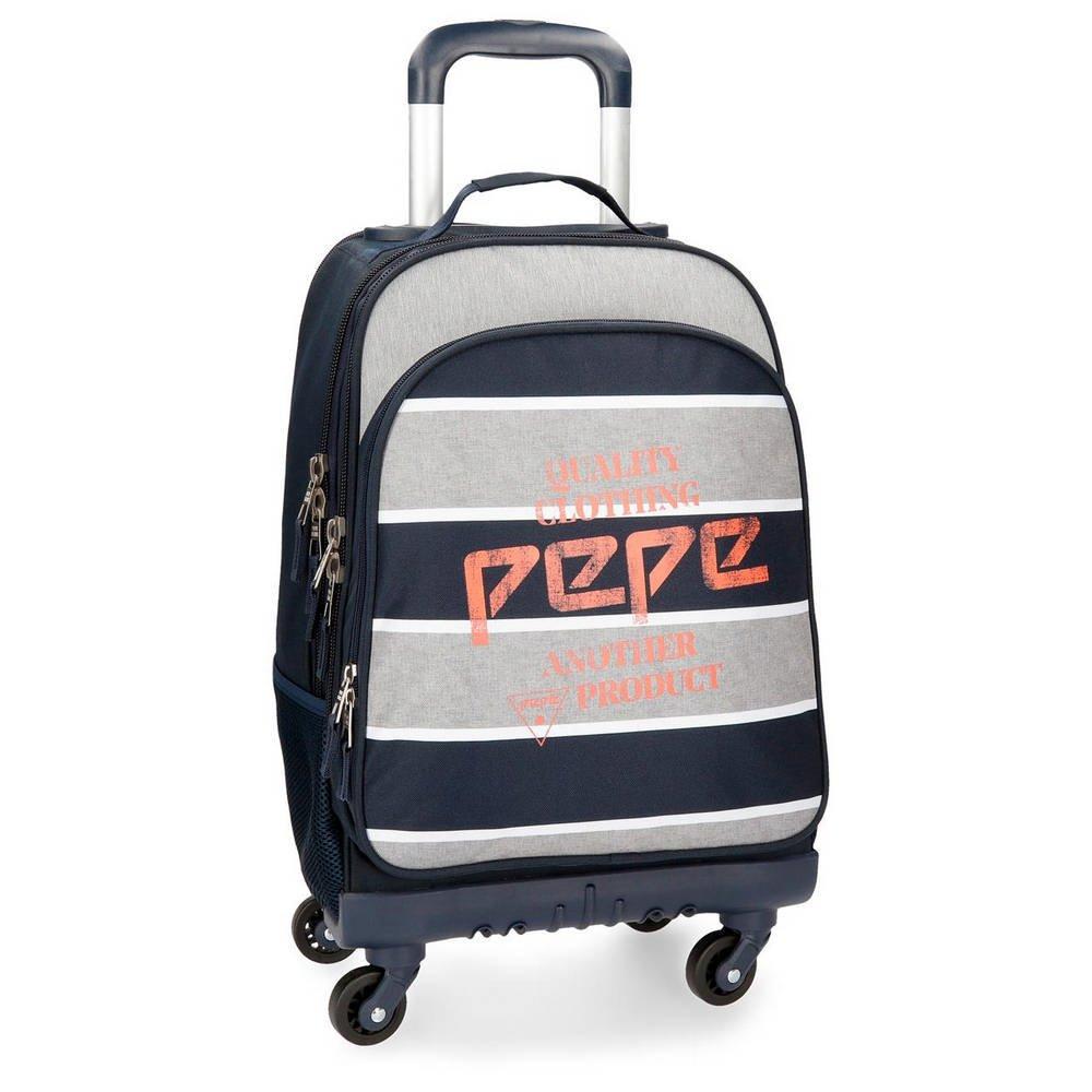 6185JWxKmtL - Mochila con ruedas Pepe Jeans Pierre 4R