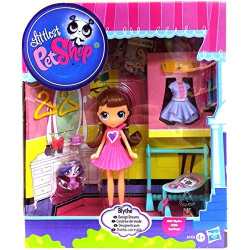 Littlest Pet Shop - A5121 - Blythe Designertraum - Blythe #B57 & Zoe Trent #3355 - inkl. viel niedlichem Zubehör (Littlest Pet Shop-zoe)