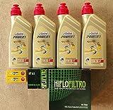 Tecneco Kit pour r 1100gS 1993/1999avec 4litres d'huile Castrol Power 115W50et 1filtre à huile hiFlo hF1632bougies nGK BKR7EKC