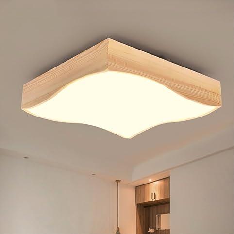 LED Lampe Holz Decke Lampe Zimmer Schlafzimmer Lichtdecke einfache ...