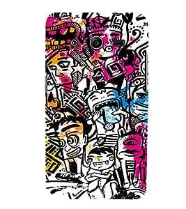 Ebby Premium 3d Desinger Printed Back Case Cover For Samsung Core 2 (Premium Desinger Case)