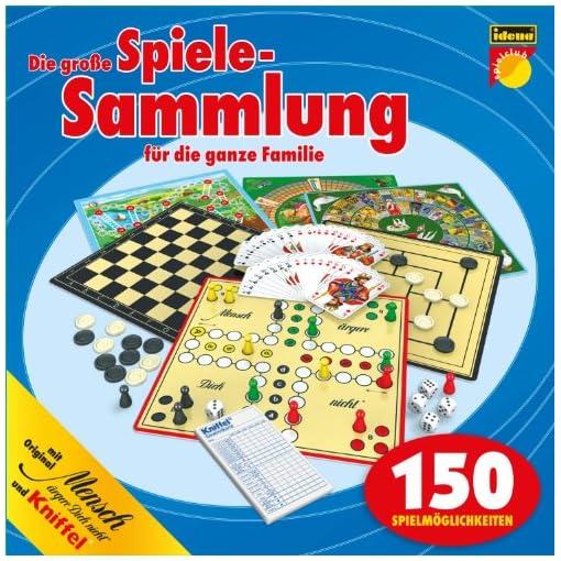 Idena-6102589-Spielesammlung-mit-150-Spielmglichkeiten