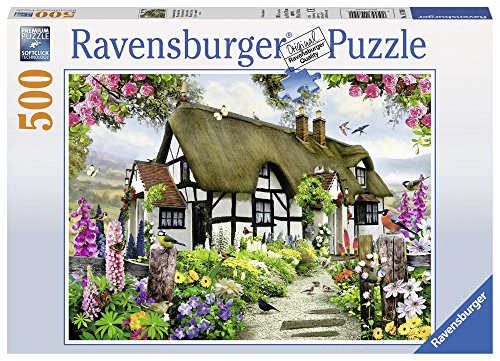 Ravensburger-14709 0 Puzzle 500 Piezas English Cottage, (147090)