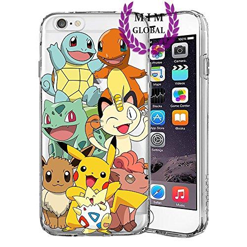 Pokemon Protectores de iPhone Case Cover - Único Diseños más recientes - Todos los modelos de iPhone - A estrenar - La más alta calidad - Pikachu - Mew - Mewtwo - Gengar - Charmander - Charizard - Blastoise - Rayquaza - Lugia - Ho-oh - Moltres - Zapdos - Articuno - MIM Global (iPhone 5/5s/SE, Poke Friends)