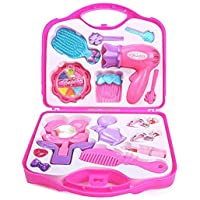 2FONZ Beauty and Make up Set with Hair Dressing and Accessories for Girls (Pink)